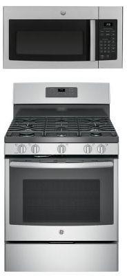 GE Stainless Steel Range & Microwave for Sale in Las Vegas, NV