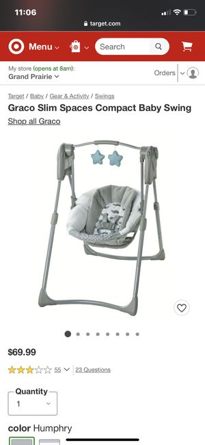 baby swing for Sale in Grand Prairie, TX