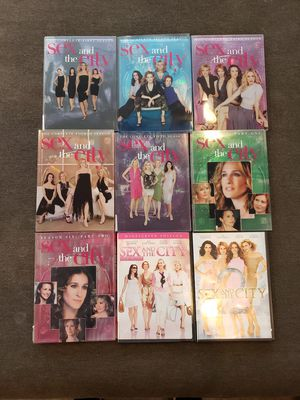 Sex and the City Series DVDS set and 2 movies. Includes seasons 1,2,3,4,5 and 6 part 1 and 2. Sex in the City the movie and Sex and the City 2 movie. for Sale in Everett, WA