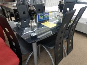 No credit needed glass top dining table set for Sale in College Park, MD