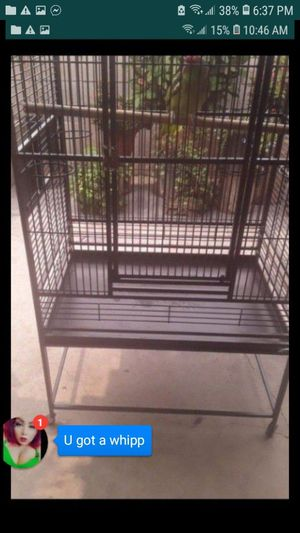 """BEAUTIFUL LARGE BIRD CAGE 63""""H×32""""W×23""""L SELLING IT CAUSE MY BIRD FLEW AWAY for Sale in Santa Ana, CA"""