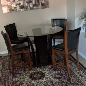 Glass Pub Style Dining Table. for Sale in Tempe, AZ