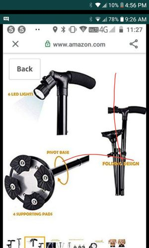 Folding cane with led light for Sale in Palmdale, CA