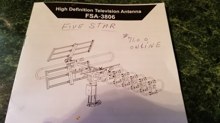 Five star tv antenna for Sale in Keysville,  VA