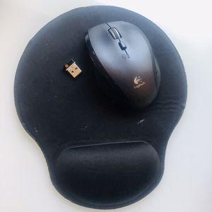 Logitech M705 Wireless Mouse +Black Mouse Pad for Sale in Dumfries, VA