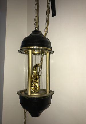 Vintage oil swag lamp for Sale in Los Angeles, CA