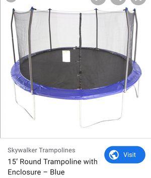 15 ft Skywalker trampoline with enclosure for Sale in Miami Gardens, FL