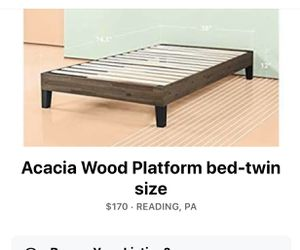 Brand new in box Acacia Wood Bed Frame for Sale in Reading, PA