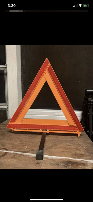 Emergency Alert Triangle, safety cone for Sale in Bradenton, FL