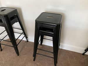 6 Black Metal stool set for Sale in Marlborough, MA