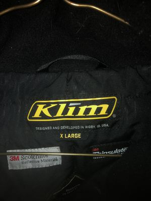 Klim vector parka jacket! for Sale in Easthampton, MA