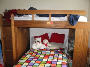 Wooden loft bed for Sale in Fisher, IL