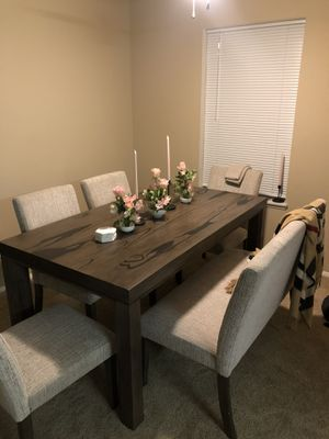 CUSTOM dining table set, table with 4 chairs + booth FREE DELIVERY for Sale in Vancouver, WA