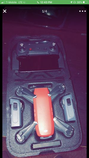 DJI spark drone with wing guards for Sale in Wilsonville, OR