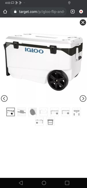 Igloo wheeled cooler 90 quarts 5 day ice retention for Sale in San Leandro, CA
