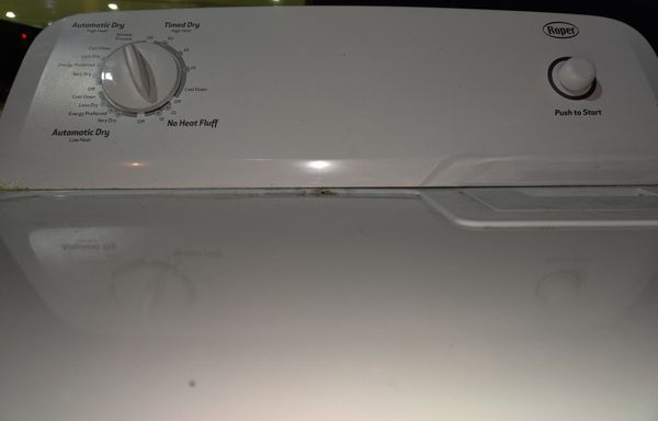 2 year old WHIRLPOOL ROPER ELECTRIC DRYER