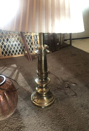 Brass lamp with shade for Sale in Portland, OR