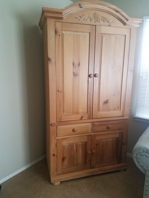 Free Large oak armoire for Sale in Torrance, CA