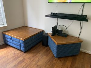 Coffee table with storage and side table for Sale in Rockville, MD