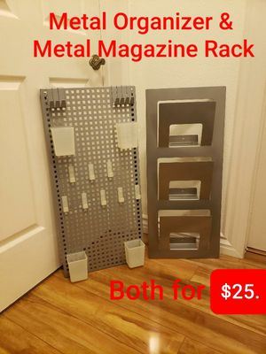Metal Organizer & Metal Magazine Rack for Sale in Pico Rivera, CA