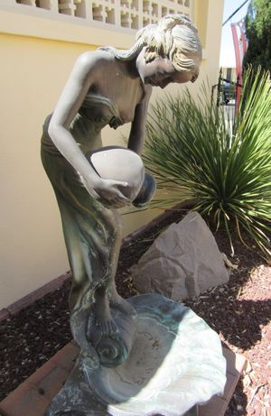 Vintage Bronze Statue/ Figurine, very unique as Fountain, 5 feet for Sale in Sun City, AZ
