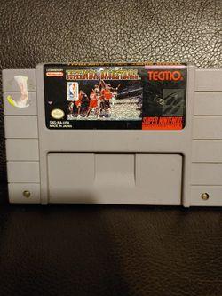TECMO SUPER NBA BASKETBALL SUPER NINTENDO SNES for Sale in Hawthorne,  CA