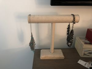 Beige hemp necklace stand holder for Sale in Huntington Beach, CA