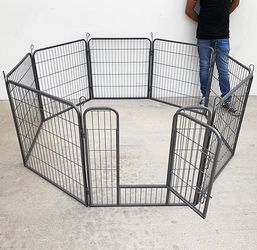 "(NEW) $90 Heavy Duty 32"" Tall x 32"" Wide x 8-Panel Pet Playpen Dog Crate Kennel Exercise Cage Fence for Sale in El Monte,  CA"