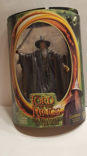 Gandalf Lord of the Rings The Fellowship of the rings Action Figure Toy Biz New Sealed for Sale in San Jose, CA