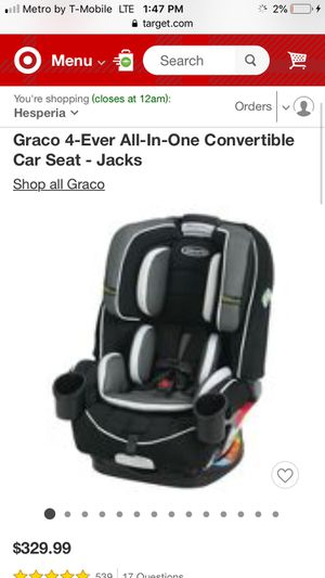 Graco 4ever car seat *new for Sale in Perris, CA
