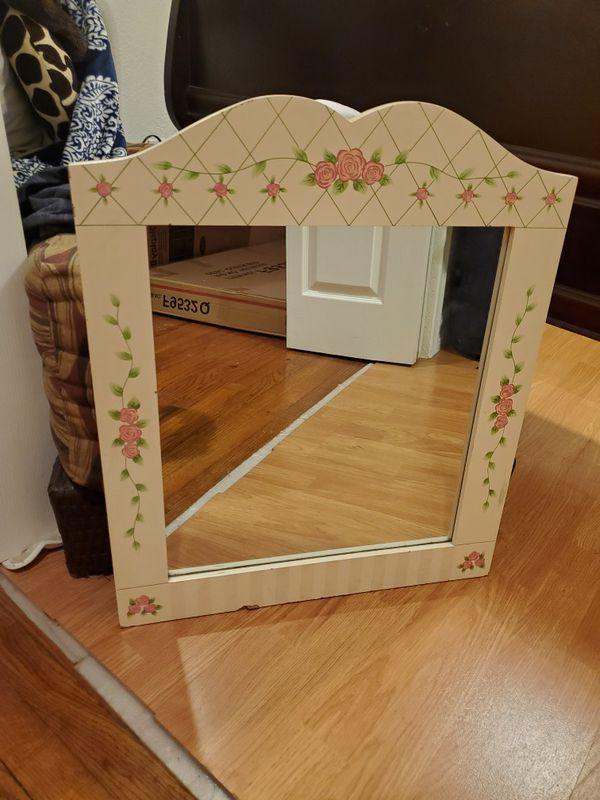 Rose print mirror