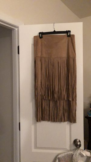 Faux suede fringe skirt from NY&Co for Sale in Stafford, VA