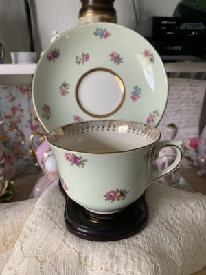 Vintage antique CUP and SAUCER SET by COLDOUGH CHINA, Langton England Bone China for Sale in Hialeah, FL