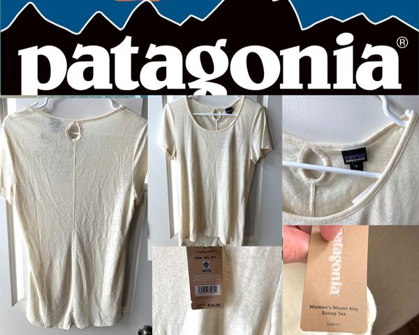 Patagonia Shirt - Women's Size Medium Light Yellow New!