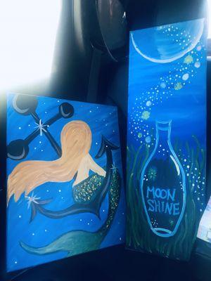 Newly Painted Mermaid/Achor 2 pc wall decor for Sale in Santa Ana, CA