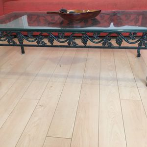 Glass Top Coffee Table Iron, Beveled Glass for Sale in Decatur, GA