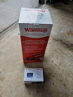 warmup underfloor heating mat/4ie smart wifi thermostat for Sale in Portland, OR