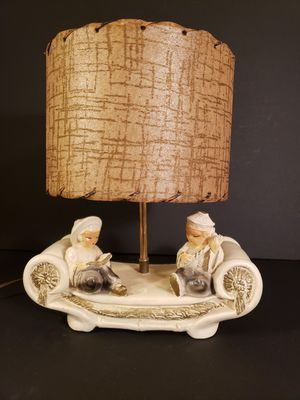 1950's Vintage Asian Lamp w/Fiberglass Shade for Sale in Austin, TX