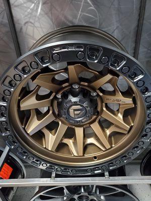 20x10 -18 offset fuel d696 bronze covert fits 6x139 6x135 5x127 jeep wrangler silverado tacoma 4runner f150 raptor rim wheel tire shop for Sale in Tempe, AZ