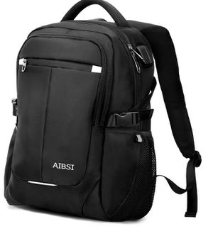 Laptop Backpack, AIBSI Anti Theft Business Backpack for Women & Men, Slim Durable Travel Computer Bag, Waterproof College School Bookbag with USB Cha for Sale in Piscataway Township, NJ