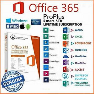 Office 365 Plus Authentic Lifetime Liscense 5 Devices for Sale in Batavia, IL