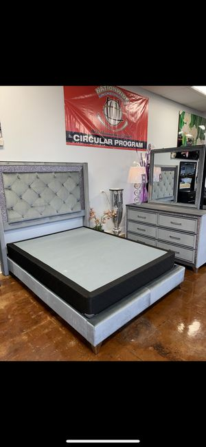 LUXURY QUEEN BED FRAME NOW ON SALE for Sale in North Chicago, IL