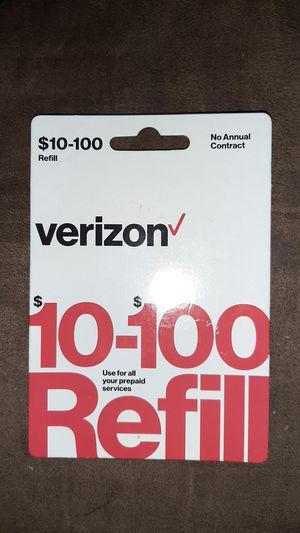 Verizon 50 Dollar Prepaid Card for Sale in Phoenix, AZ