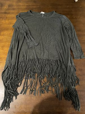 Women's green fringe top size large for Sale in White House, TN