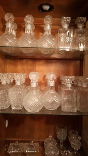 Clear glass decanters for Sale in Houston, TX