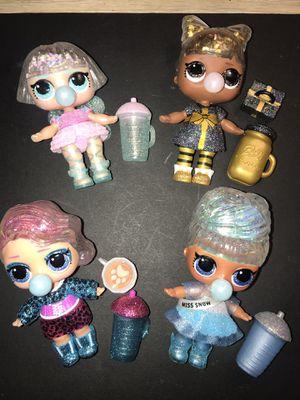 Lol winter disco dolls lot of 4 for Sale in Portland, OR