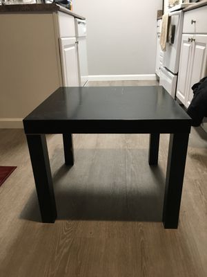 BLACK COFFEE TABLE SIDE SOFA CORNER DESK REST STAND LIVING ROOM DINING for Sale in Tacoma, WA