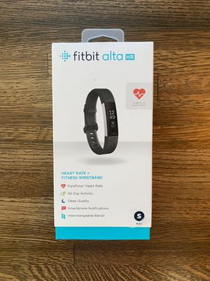 FitBit Alta HR w/ Box & Charger/Dongle (Size Small) for Sale in Monument, CO
