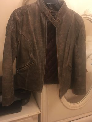 Steve Madden women's leather distressed bomber jacket small for Sale in Detroit, MI