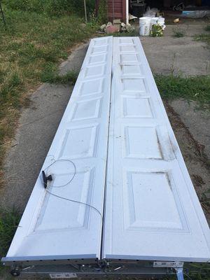 White two-car garage door for Sale in Detroit, MI